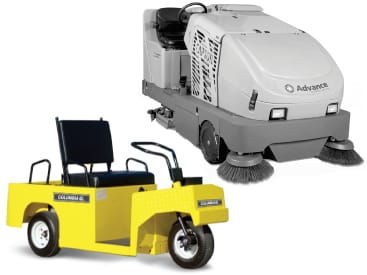 electric utility vehicles floor sweepers scrubbers total warehouse cat thumbnail 01